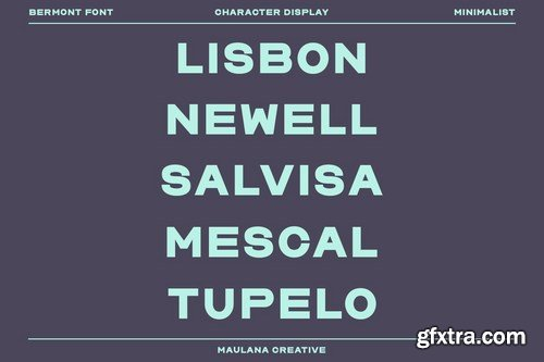 Bermont Sans Serif Display Font