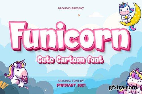 Funicorn - cartoon font