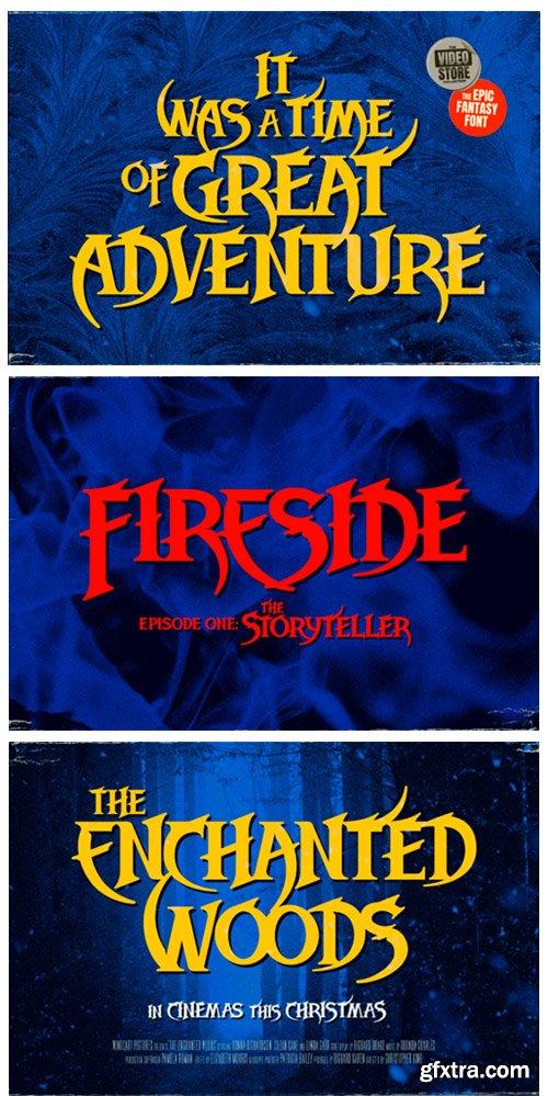 Midwinter Fire Font Font