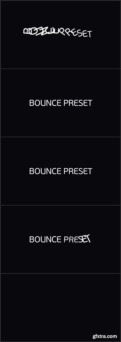 30 Bounce Text Presets 28250