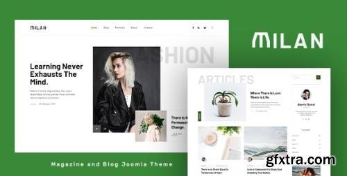 ThemeForest - Milan v1.0 - Blog and Magazine Joomla Theme - 33954011