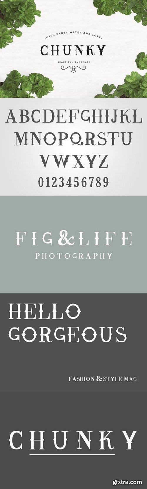 Chunky Typeface