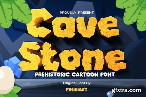 Cave Stone - prehistoric cartoon font