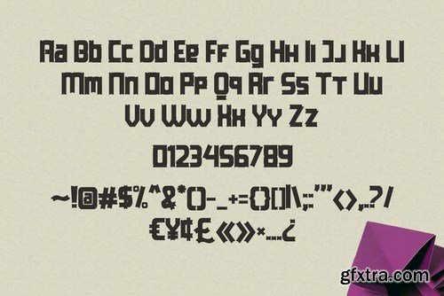 Paporigam Font