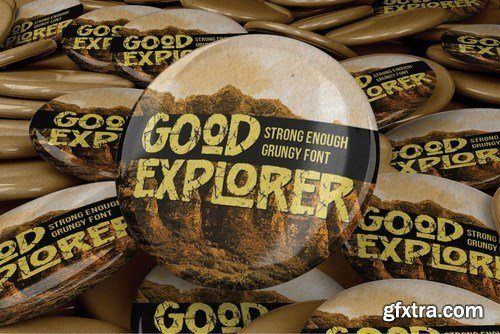 Good Explorer - Strong Rough Brush Font