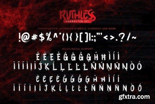 Ruthless - Horror brush Font