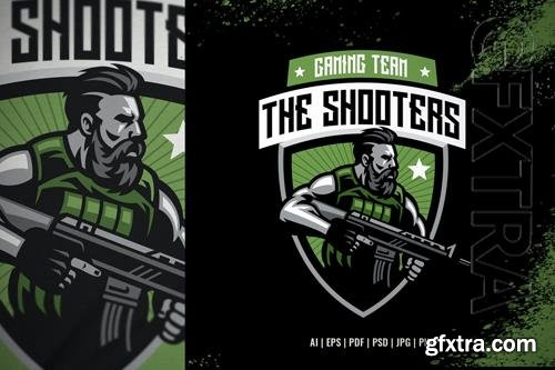 Bearded Soldier Mascot for Sport and Esport Logo