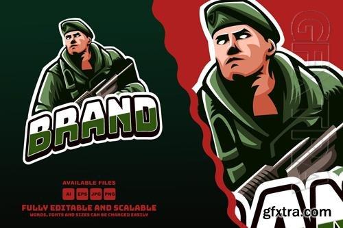 Army Mascots Logo Esports style