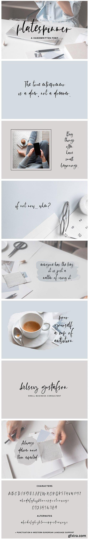 Platespinner Script Font