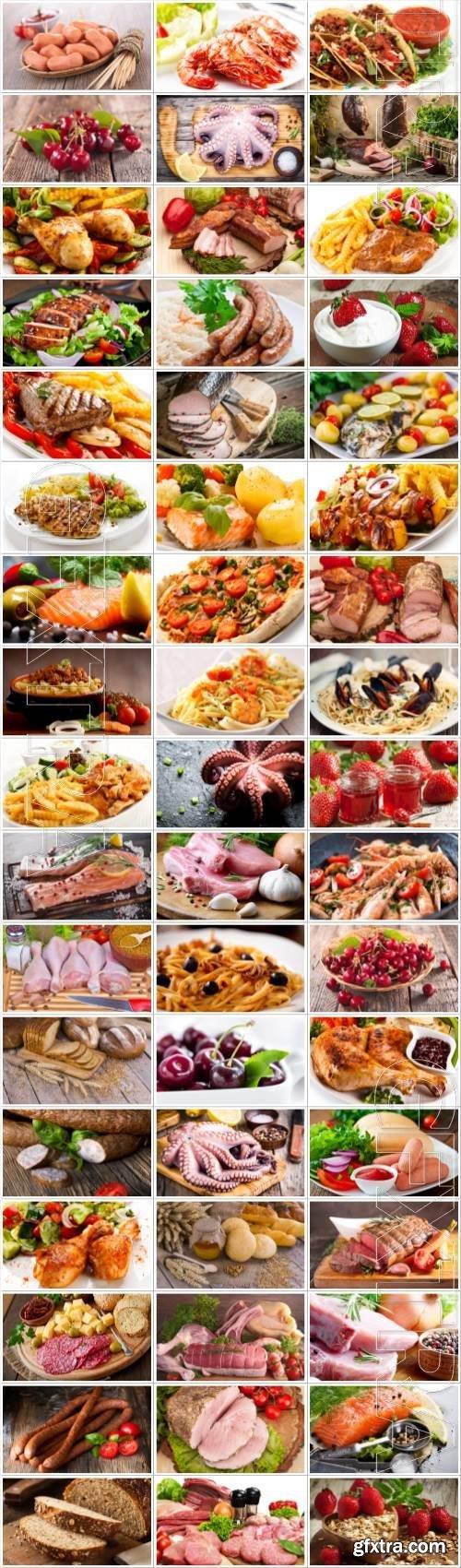 Food large selection stock photos