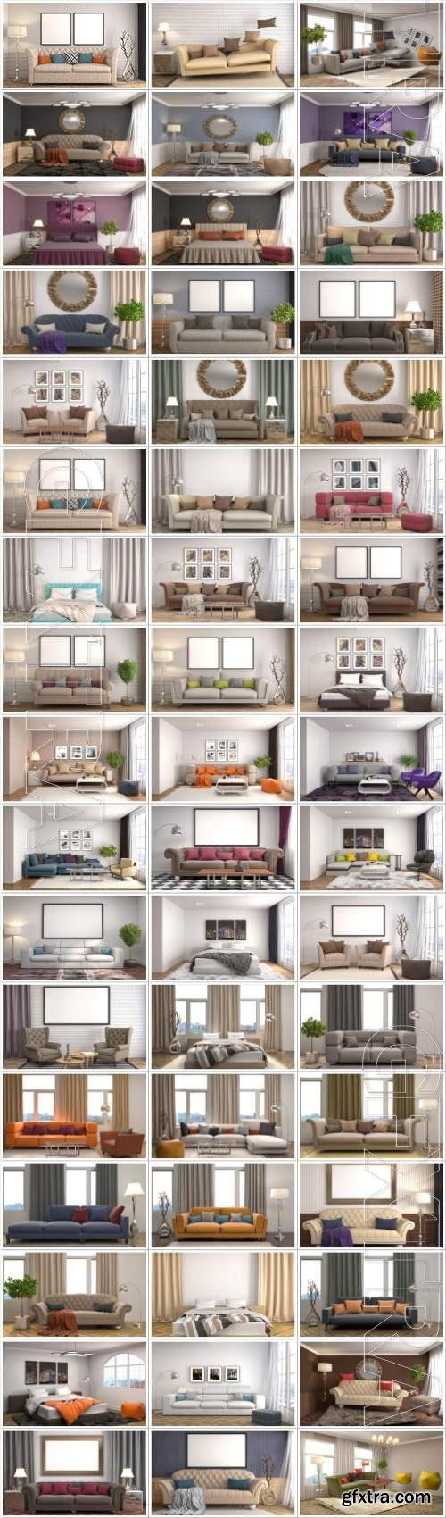 Interior large selection of stock photos