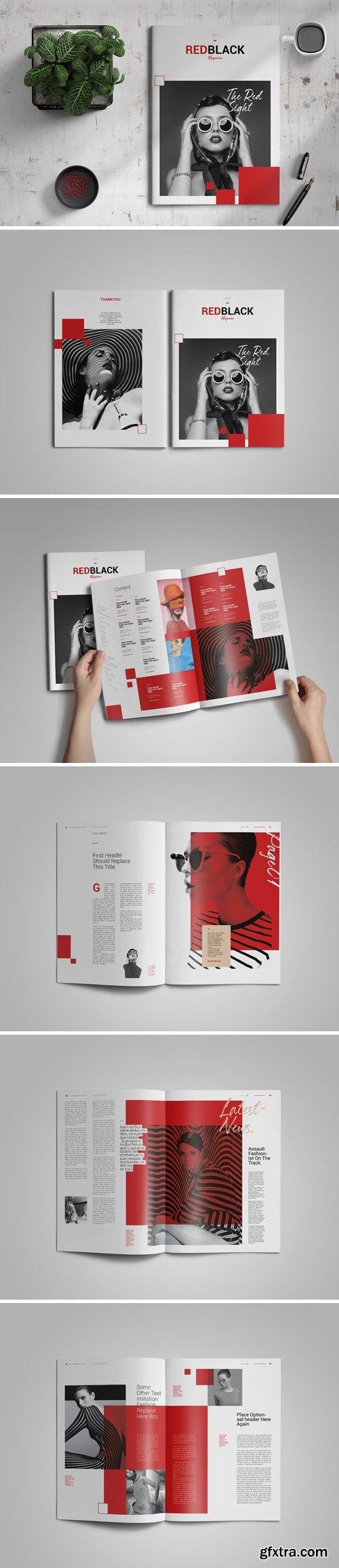 Redblack | Magazine template