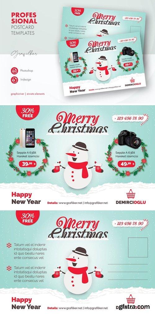 Christmas Product Postcard Templates