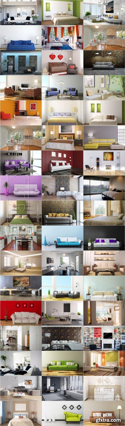 Modern interior large selection of stock photos