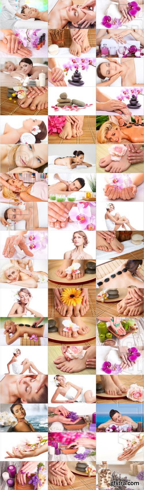Girls in the spa salon large selection of stock photos