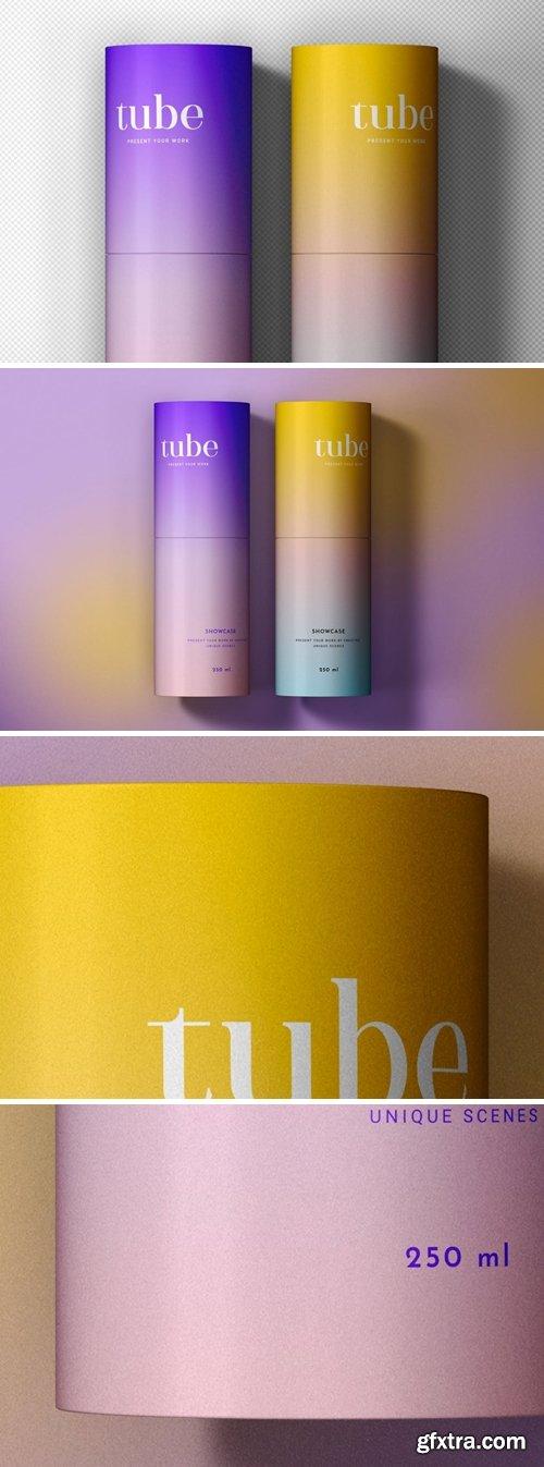 Paper Tube Packaging Scene Mockup