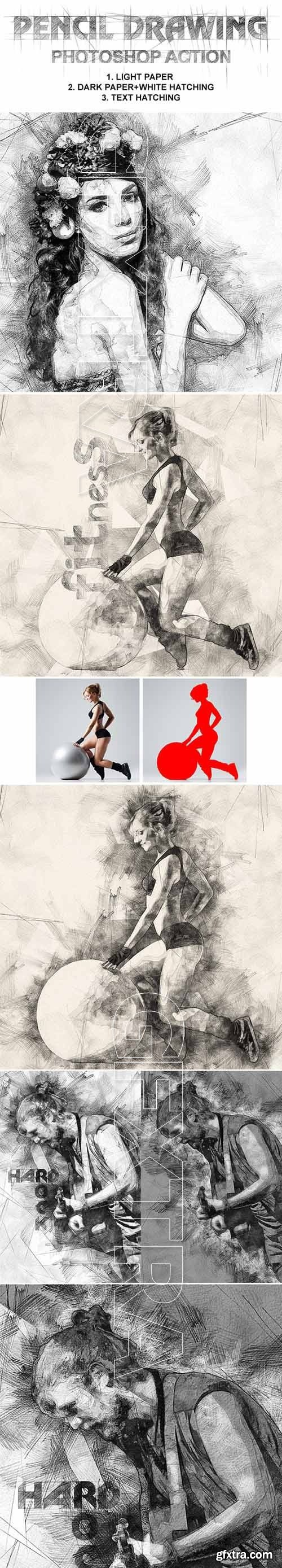 GraphicRiver - Pencil Drawing Photoshop Action 19737502