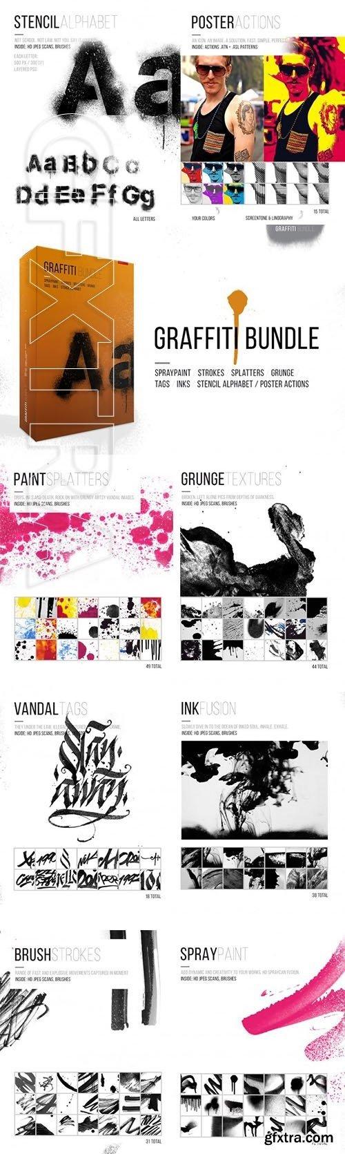 Graffiti Brushes & Actions MASTER Bundle