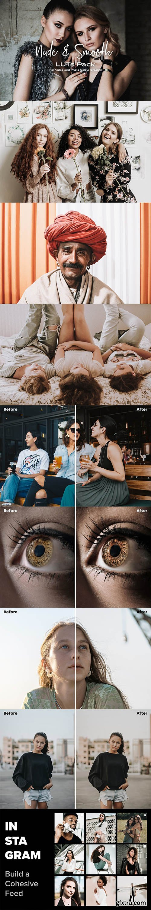 CreativeMarket - Nude & Smooth Luts Pack 6406834