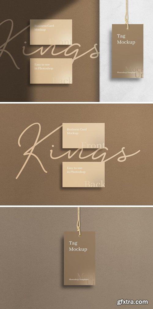 Tag & Business Card Mockup