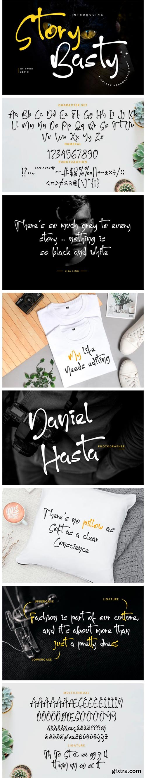Story Basty Quirky Handwritten Font