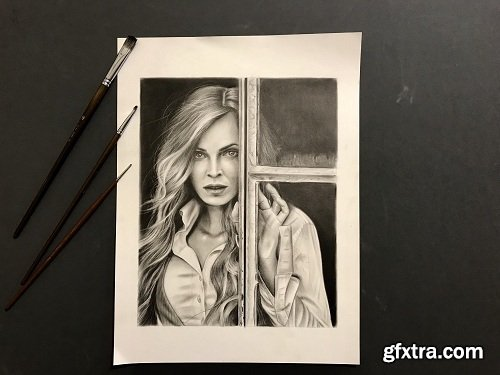 Portrait drawing: How to Draw a Beauty Portrait with Pencils