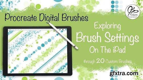 Procreate Brushes - Exploring Brush Settings On The IPad through 20 Custom Digital Brushes