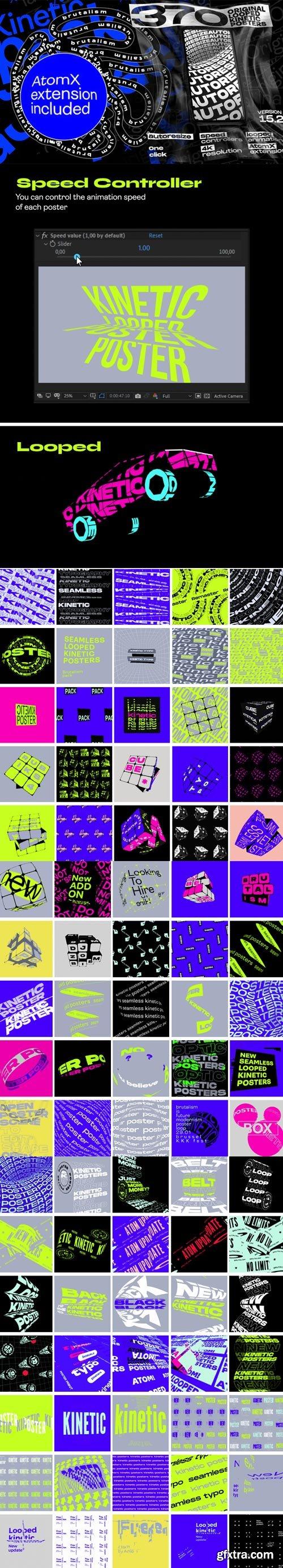 Videohive - Seamless Loop Kinetic Posters V15.1 - 24684532