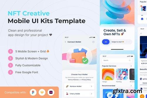 NFT Creative Mobile App UI Kits Template