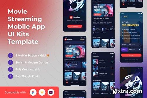 Movie Streaming Mobile App UI Kits Template