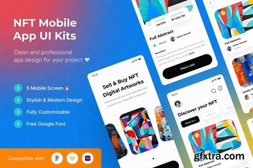 NFT Mobile App UI Kits Template