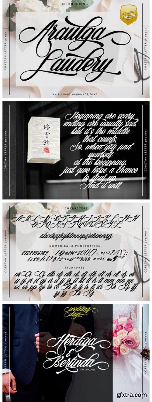 Araulga Laudery Font