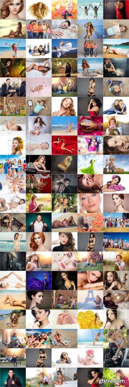 People, men, women, children, stock photo bundle vol 7