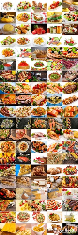 Food, meat, vegetables, fruits, fish, stock photo bundle vol 3