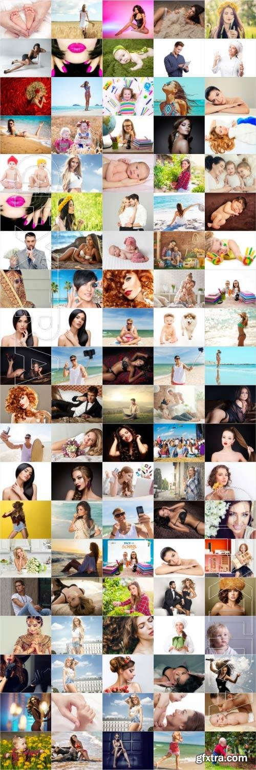 People, men, women, children, stock photo bundle vol 4