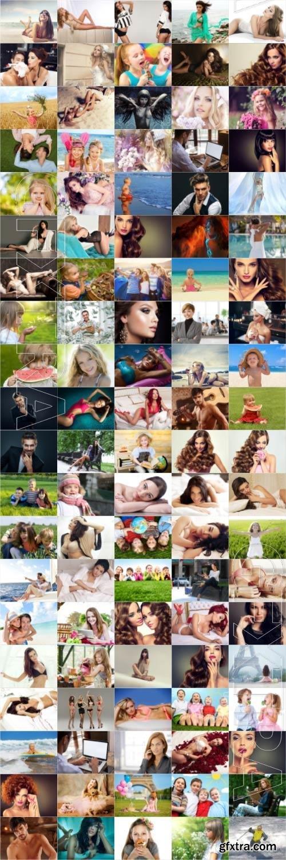 People, men, women, children, stock photo bundle vol 6