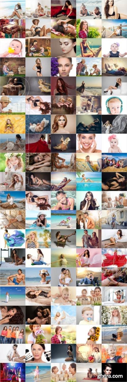 People, men, women, children, stock photo bundle vol 2
