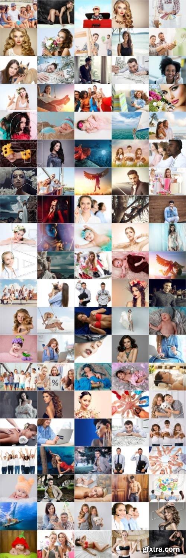 People, men, women, children, stock photo bundle vol 3