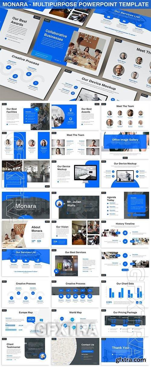 Monara - Multipurpose Powerpoint Template NRQLRBD