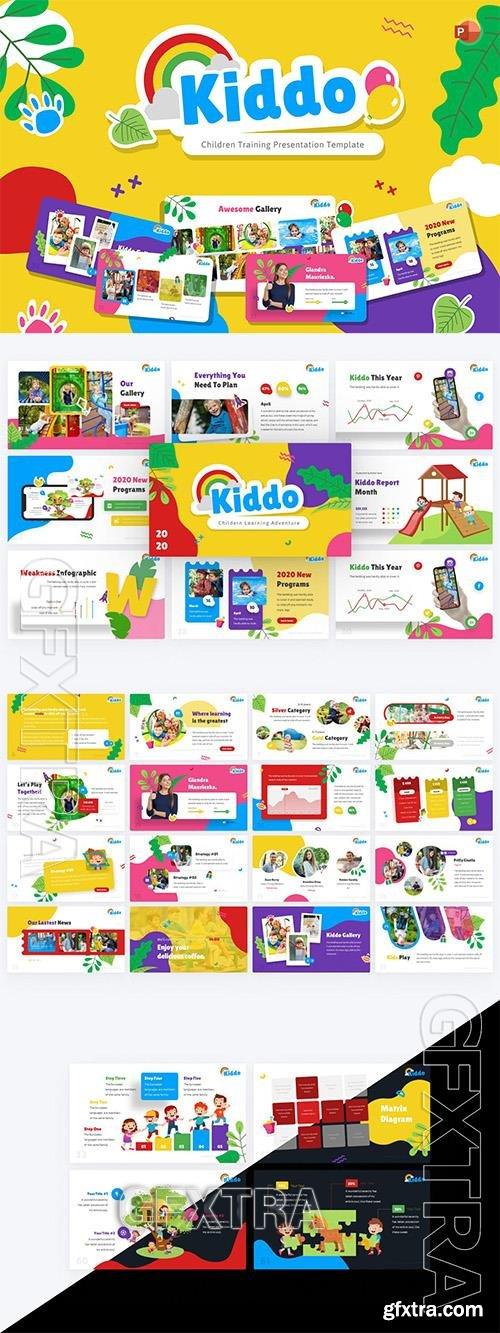 Kiddo Education PowerPoint Template P9STMVX