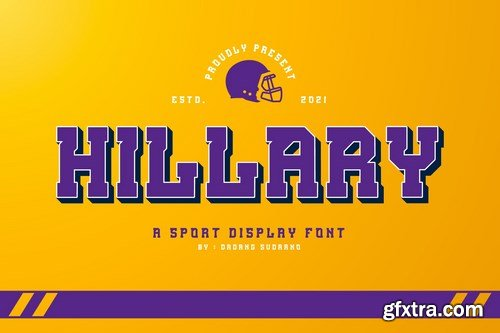 Hillary - A Sport Display Font