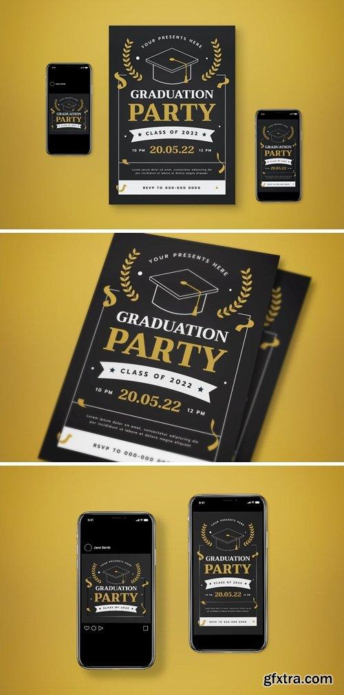 Graduation Party Flyer Set