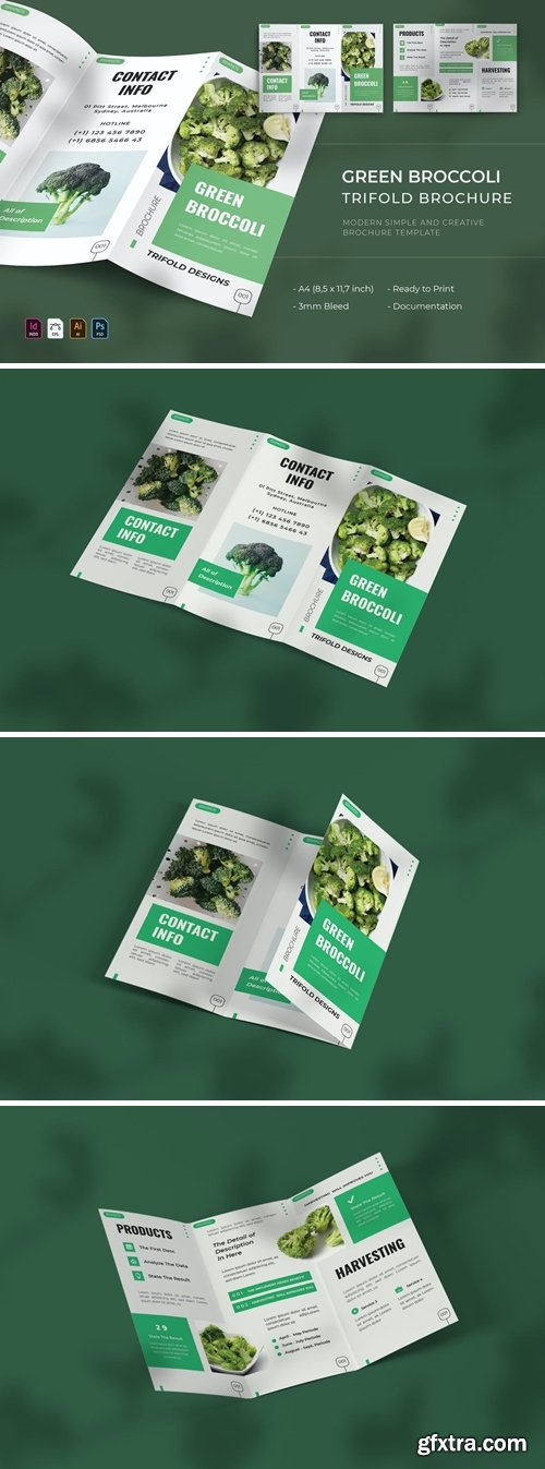 Green Broccoli | Trifold Brochure