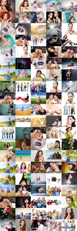People, men, women, children, stock photo bundle vol 12