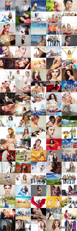 People, men, women, children, stock photo bundle vol 8