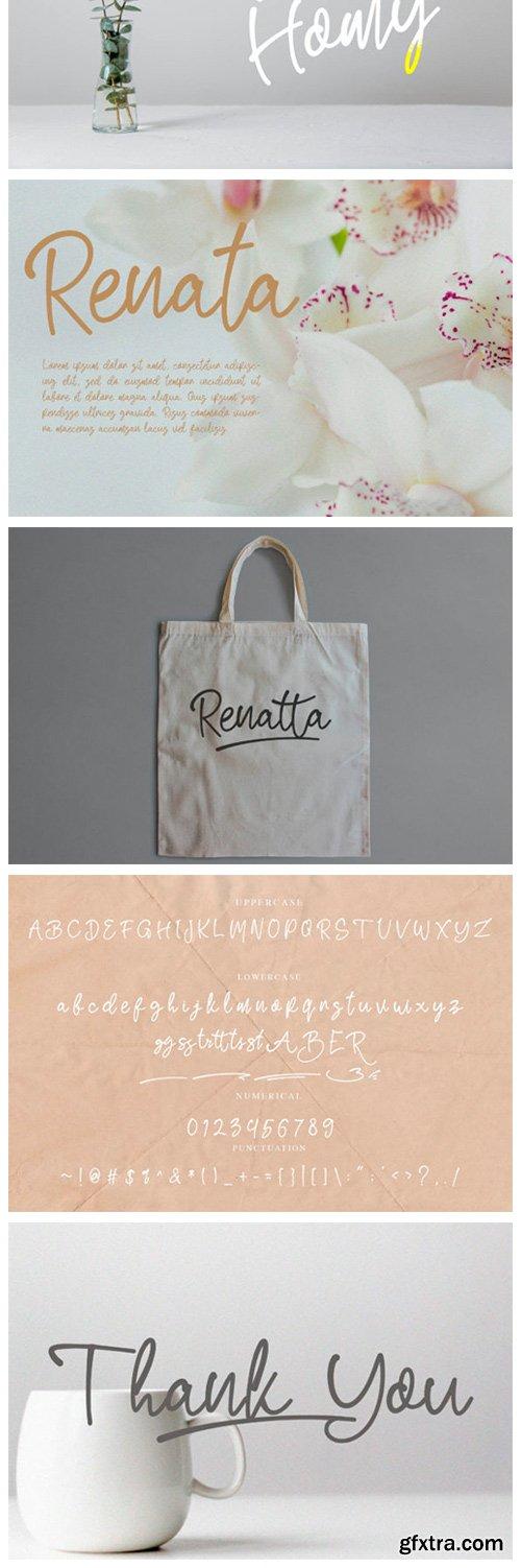 Renatta Script Font