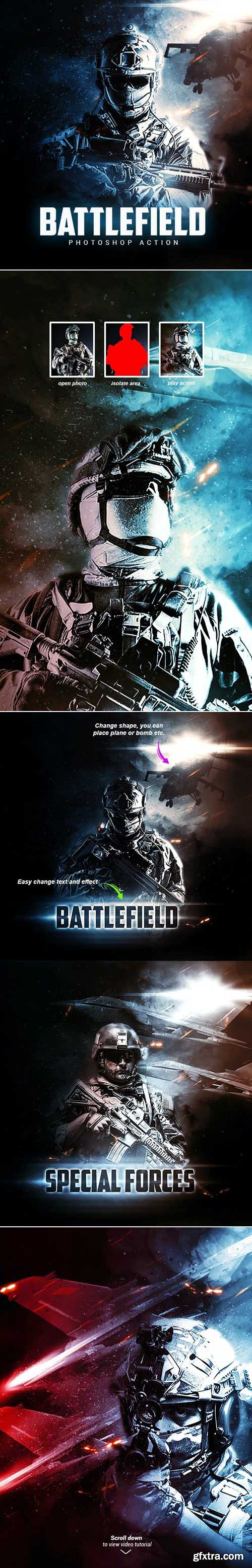 GraphicRiver - Battlefield - Photoshop Action 32973251
