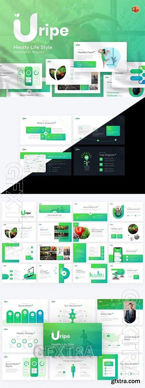 Uripe Life Style Powerpoint Template 2CMF7TG