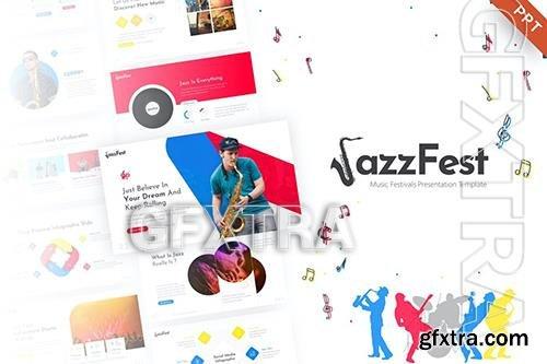 JazzFest - Music Event PowerPoint Template BSTQZBL