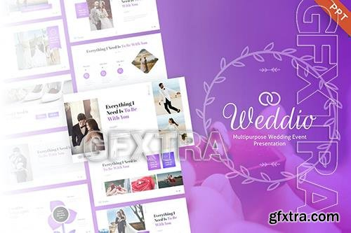 Weddio Creative Wedding Event PowerPoint Template UP3T4GS